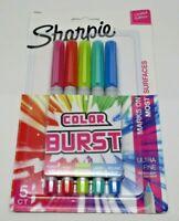 Sharpie Color Burst Ultra Fine Permanent Markers 5/Pkg