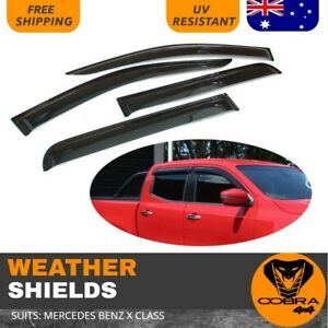 Weather Shield Weathershields Suits Mercedes Benz X Class 2017 2018 window visor