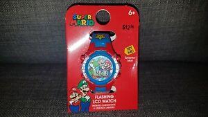 Super Mario FLASHING LCD WATCH - Nintendo Brand New with Box