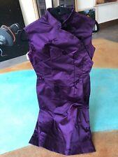 """Vintage Mandarin Dress Asian Cheongsam Floral Tropical Mandarin Dress 28"""" Waist"""
