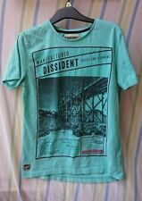 Mens T-Shirt By Dissident Green Size XS 100% Cotton