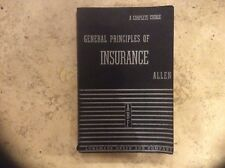 General Principles of Insurance by Allen Longmans, Green and Company 1937 pback