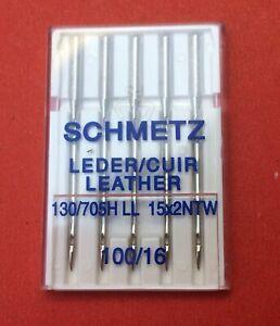 Schmetz Leather sewing machine needles, 100/16,  pkt of 5