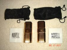 Norell Perfume Purse Spray Bottles Empty Collectible Gold Metal (2 Bottles)