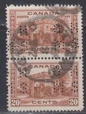 Canada #O243 20¢ OHMS PERFIN FORT GARRY USED - B