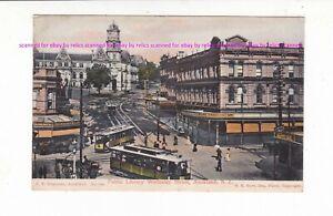 AUCKLAND Public Library Wellesley Street VINTAGE  postcard c.1900s NEW ZEALAND