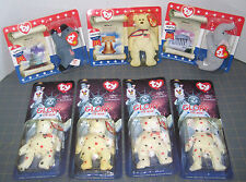 Election Lot of 7 Ty American Trio Libearty Righty Lefty Glory Patriotic Flag