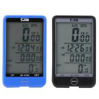 SUNDING Waterproof Wired Bicycle Computer LCD Backlit Bike Odometer Speedometer