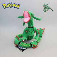 "80cm 32"" New Green Pokemon Rayquaza Soft Plush Stuffed Doll Toy Figure Gift"