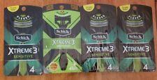 4 Schick Xtreme3 Sensitive Disposable Razors, 4 Count