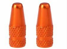 2x Alu eloxiert orange Fahrrad Ventilkappen SV DV Ventil NEU Rennrad MTB Presta