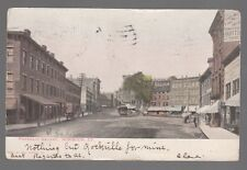 [51736] OLD POSTCARD TROLLEY CAR IN FRANKLIN SQUARE IN NORWICH, CONNECTICUT