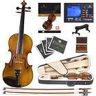Cecilio CVN-500 Ebony Highly Flamed Violin ~4/4 to 1/4 +Book/Audio/Video+Tuner