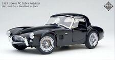Exoto 1/18 1963 AC Cobra Roadster Hard-Top Black/Black on Black RLG18131