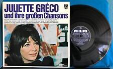 JULIETTE GRÉCO UND IHRE GROßEN CHANSONS~ORIG 1969 GERMAN LP~COMPILATION