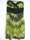 Seduce Size 12 Green and Black Cotton Cocktail Dress