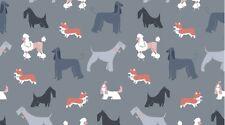 Fabric 100% Cotton Dear Stella Show Dogs