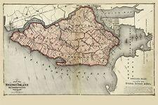 Mapa Antiguo 1874 cervezas Staten Island New York grandes réplica cartel impresión pam1931