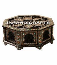"30"" Belgium Black Marble Real Jewelry Box Marquetry free Malachite Jewelry Box"