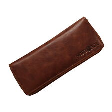 HORTOSOL COGNAC Genuine leather tobacco pouch Purse brown Cig Case Rolling Kit