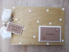 PERSONALISED LOVE ENGAGEMENT WOODEN SCRAPBOOK/PHOTO BOOK /MEMORIES