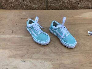 Vans Old Skool Sneaker, Aqua Green , Size 11, Kids 2 - 4 yrs