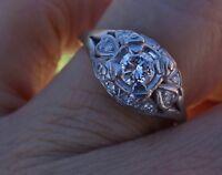 .40ct vintage antique diamond platinum engagement ring 6.25 5g