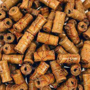 Wooden Bamboo Tube Shape Beads 14 x 7mm  Jewellery making Bead W51 x 40