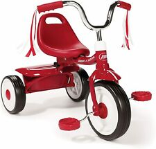 Folding Trike Red Tricycle Kids Toddler Child Bike Ride On Toy Outdoor Garden