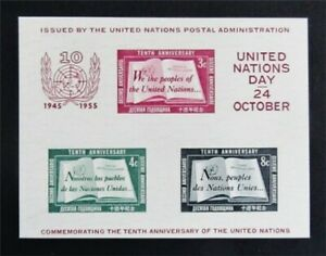 nystamps United Nations Stamp # 38 Mint OG NH $80 F26y3454