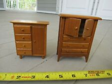 2 doll furniture wooden handmade chest of drawers one opens the other no 40 yrs
