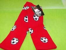 Soccer Ball Sock Sz 6 - 8.5 red/black/white