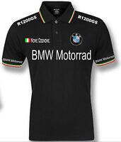 POLO UOMO BMW MOTORRAD TRICOLORE ITALIA mens T-SHIRT FELPA CAMICIA S M L XL XXL