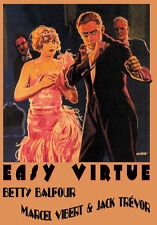Easy Virtue (1928) Betty Balfour Alfred Hitchcock movie poster print