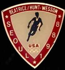 Soccer / Football Olympic Pin ~ Seoul~1988~ Beatrice Hunt Wesson