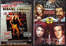 Bikers Caught On Tape & High Risk, The Cape Town Affair - 2 NEW DVDs - 3 Movies
