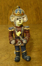 """Boyds Resin Ornament #25726 N. Mouseking, 4"""" New/Box From Retail Store"""