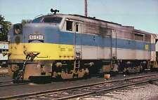 Long Island RR, #601 rebuilt ALCO FA2, GE, 1974, Metro - Railroad Train Postcard