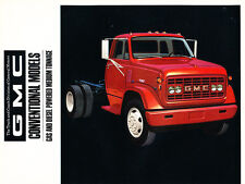 1968 GMC Truck Medium Tonnage Semi Original Sales Brochure - 4500 5500 6500