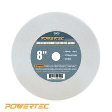 POWERTEC 8 inch Aluminum Oxide Grinding Wheel Disc Cutting Bench Grinder Tool