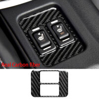 1 Piece Real Carbon Fibre Interior Center Console Seat Heat Heating Button Cover Trim Stickers for Subaru BRZ Toyota 86 Styling Decals Accessories with Seat Heat-Red