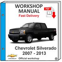 CHEVROLET SILVERADO 2007 2008 2009 2010 2011 2012 SERVICE REPAIR MANUAL WORKSHOP