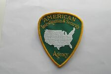 AMERICAN AGENCY INVESTIGATION & SECURITY EMBROIDERY APPLIQUE PATCH