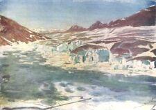 SWITZERLAND. Marjelen See and Great Aletsch Glacier 1917 old vintage print