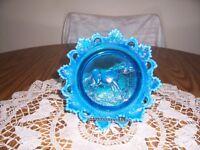 WESTMORLAND BLUE OPALAESCENT DONKEY PLATE