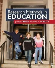 Research Methods in Education by Russell K. Schutt and Joseph W. Check (2011, Pa