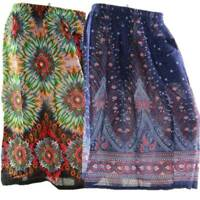 Skirt Casual Plus Size 20 Multi Coloured Bright Summer Rayon Cool Beach Sun