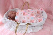 SLEEPING BAG & PILLOW FOR PRAMS CRIBS SLEEPOVER TEDDY REBORN BABY ANNABELL DOLLS