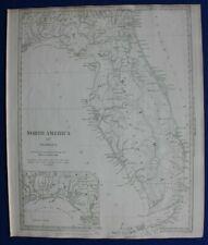 NORTH AMERICA XIV, FLORIDA, FLORIDA KEYS, original antique map SDUK 1844