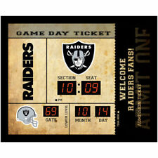 Oakland Raiders scoreboard LED clock bluetooth speaker date time 20x2x16
